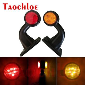 2 uds LED indicador lateral luz indicadora luz lateral lámpara marcada lateral para camión furgoneta remolque Tractor 10-30V rojo ámbar luces de liquidación