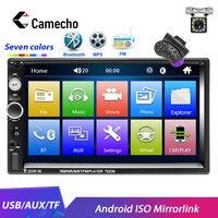 Camecho 2din Car Radio 7HD Android ISO Mirrorlink Bluetooth USB MP5 Car Multimedia Player Autoradio for Universal Car Stereo