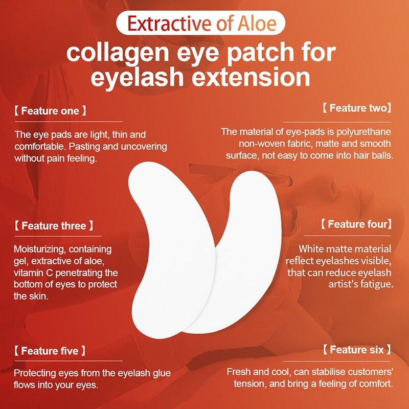 Image 2 - NAGARAKU Eyelash Extension Eyepads Gel Eyepads Hydrogel Eyepatch Under Eyepads Wholesale Set High Quality Lint Free Makeup Toolsfor eyelash extensionfor eyelasheslint free -