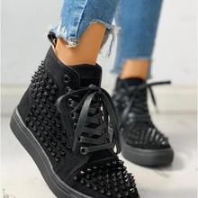2020 Spring Fashion Women Rivet Punk Sneakers Women Thick Bo