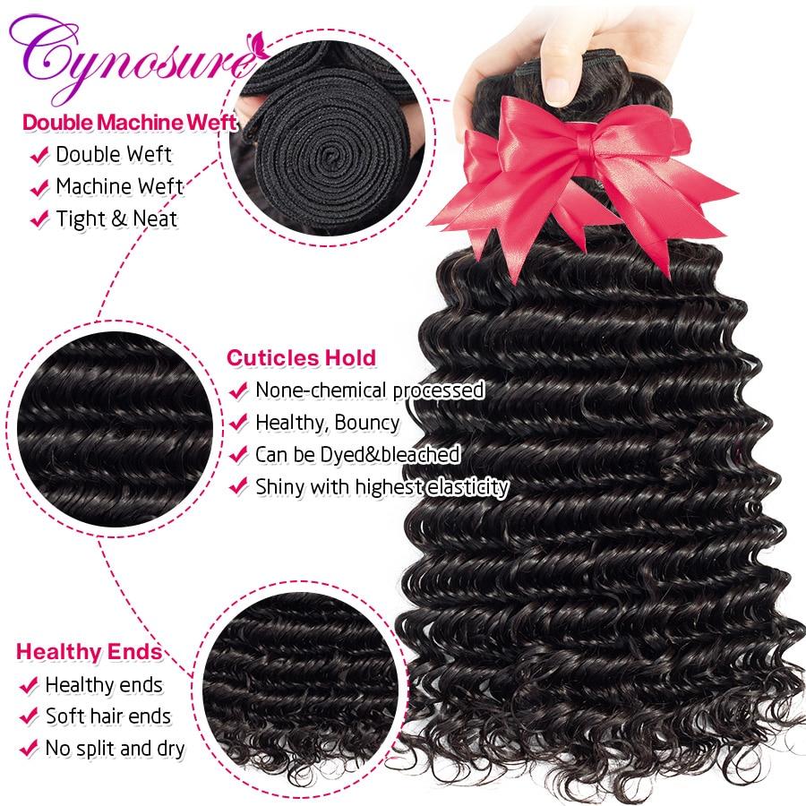 Hfa6c15e9e90842eebef571eb82435092l Cynosure Deep Wave Bundles with Closure Remy Human Hair 3 Bundles with Closure Brazilian Hair Weave Bundles Medium Ratio