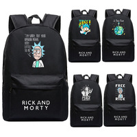 Women Cartoon Backpack Anime Rick and Morty Backpack School Bags Teenagers Laptop Shoulders Bag Bookbags Men Travel Bags