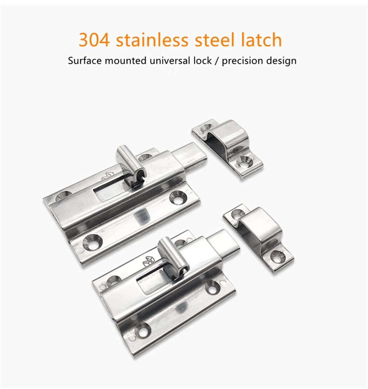 Stainless Steel 304 Latch Hhmsq50 65 Surface Mounted Universal Angle Buckle Door Bolt Door Buckle Lock Door Bolts Aliexpress