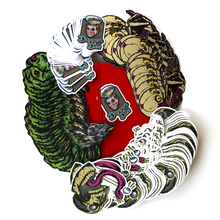 Пользовательские печатные водонепроницаемый высечки логотип клей пуля журнал милый спасибо Рождество Хэллоуин альбом для стикеров хлопья