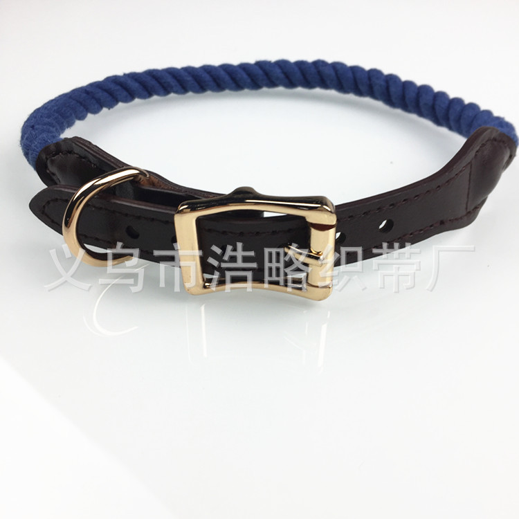 [Hao Slightly Cute Pet] Industry Dog Neck Ring-Three-ply Cotton Color Handmade Jin Circle