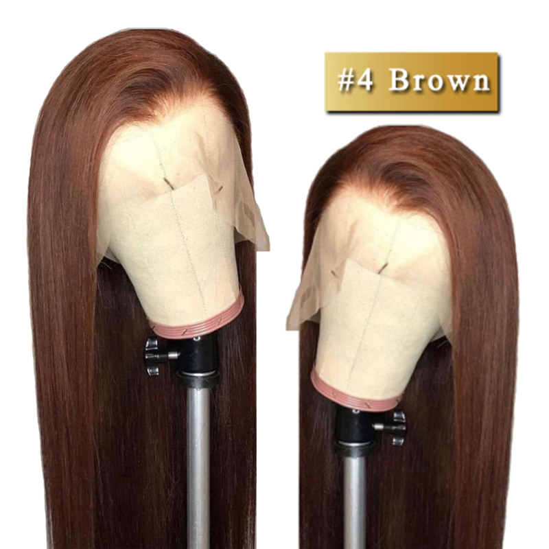 360 Lace Front Human Hair Wigs Brown Lace Front Wig For Black Women Peruvian Straight Human Hair Wigs Dorisy Non Remy Wig