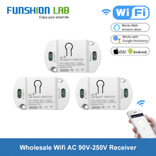 FUNSHION Wifi Receiver Mobile Phone Remote Control Switch Relay 110V 220V Smart Home 433 Mhz Tuya App Timer Module
