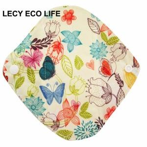 Image 3 - LECY ECO LIFE Health higiena kobieca bambusowa wkładka higieniczna, wielokrotnego użytku wodoodporne podpaski menstruacyjne 17*17cm