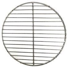 Não-vara churrasqueira esteira grade 304 aço inoxidável redonda churrasqueira malha casa redes assado bacon grill ferramenta de ferro redes churrasco acessórios