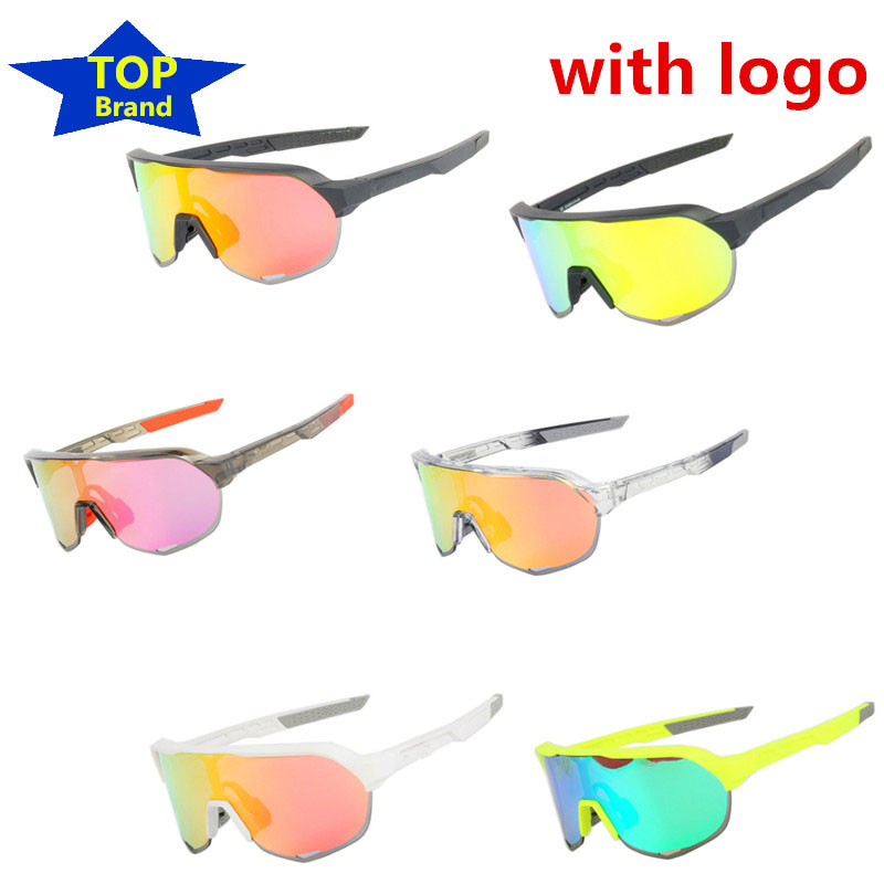 Top Brand 3 Lens Cycling Glasses Red Polarized S2 Bike Bicycle Sunglasses Goggles Eyewear Rudis Foxe Lazer Cube Tld Sagan Bora D