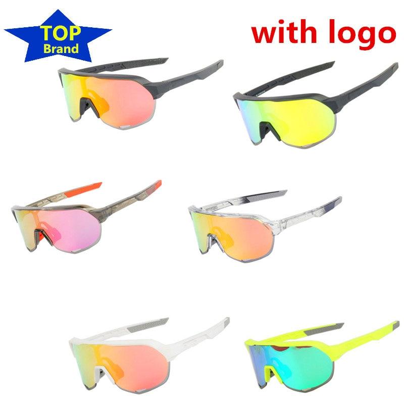 Top Brand 3 Lens Cycling Glasses Red Polarized S2 Bike Bicycle Sunglasses Goggles Eyewear Rudis Foxe Lazer Cube Tld Sagan Bora D
