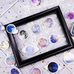 Image 4 - 20 takım/grup Kawaii kırtasiye çıkartmaları yıldız serisi sıcak damgalama dekoratif cep çıkartmalar Scrapbooking DIY el sanatları Sticker