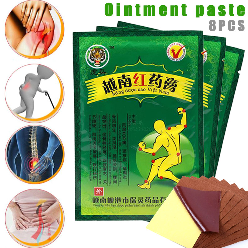 8 Pcs Vietnam Red Balm Medical Plaster Back Pain Relief Patch For Rheumatoid Arthritis Joint SDFA88