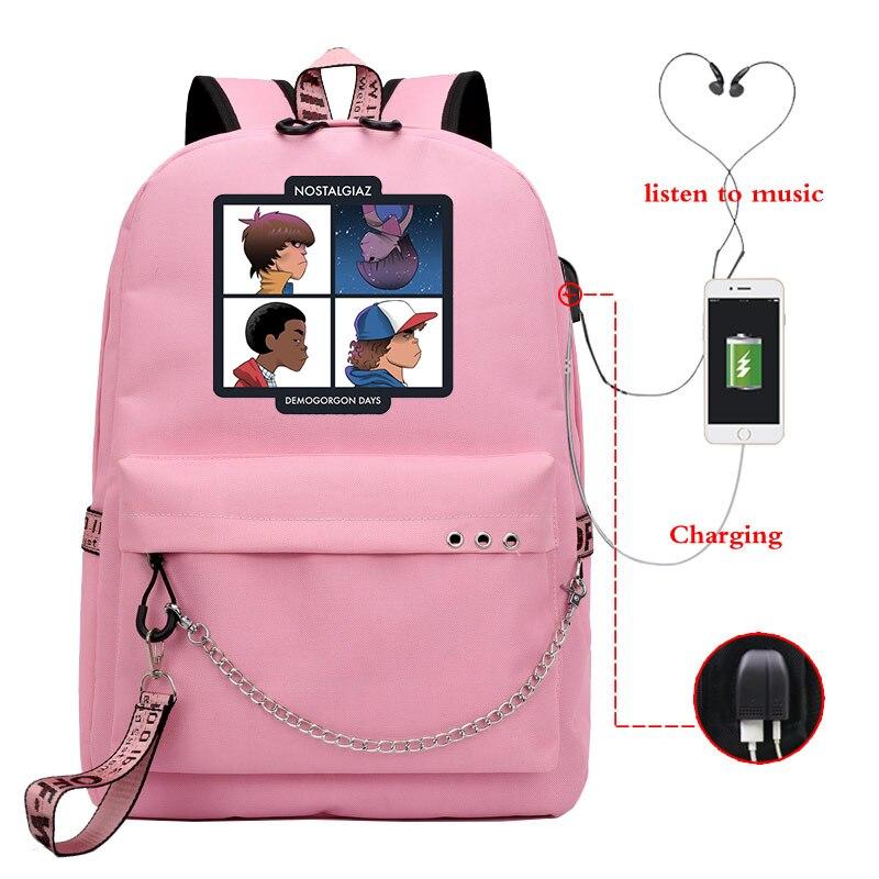 Купить с кэшбэком New casual luminous backpack ladies backpack, travel backpack, laptop backpack, girl backpack with USB charging
