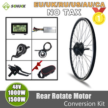 Electric-Bike-Conversion-Kit 1500W 48V with 20--700c-Display/Controller/Brake/throttle