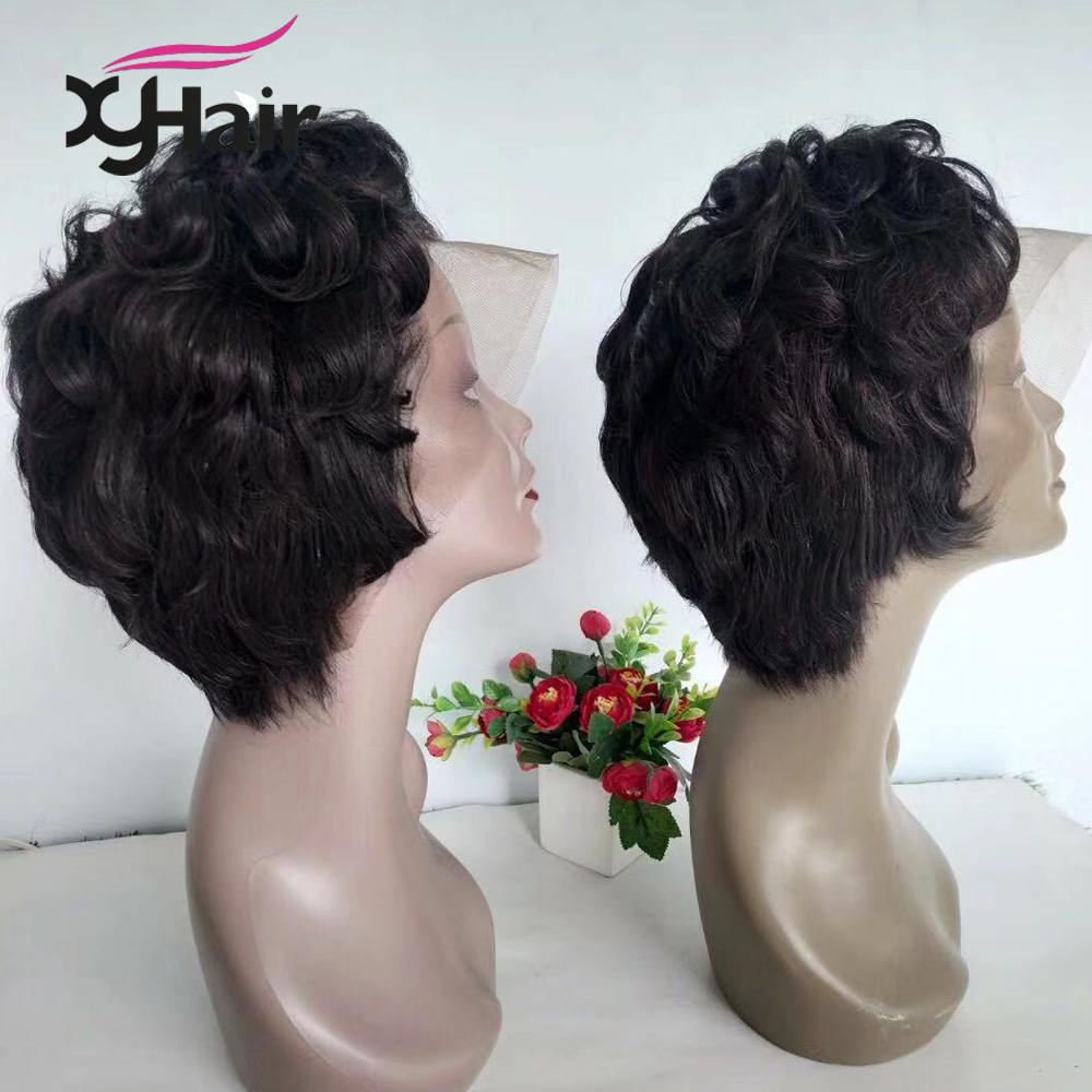 Pixie Cut Wig 13x4 Short Lace Front Human Hair Wigs Pre Plucked With Baby Hair Lace Frontal Wig Brazilian Hair free shipping