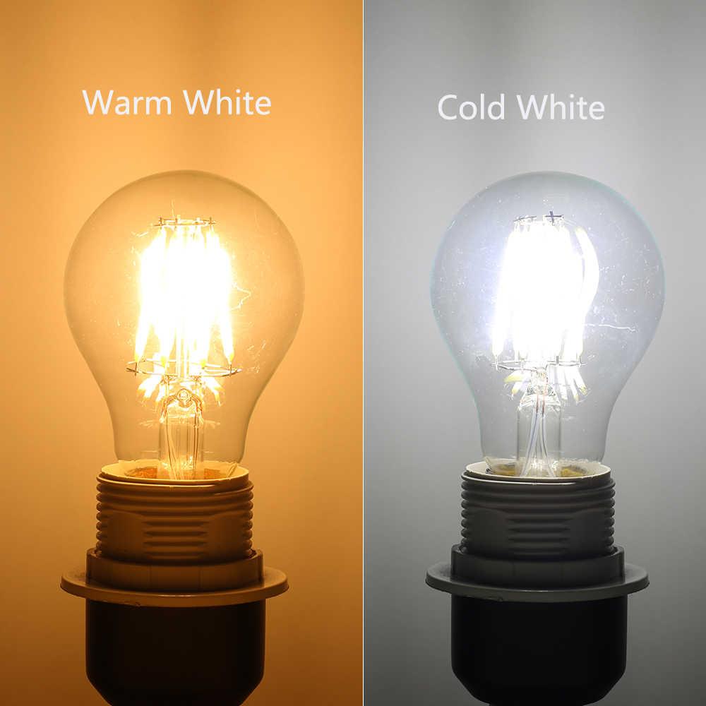 LUCKYLED Led Bulb E27 2W 4W 6W 8W Vintage Edison Lamp A60 ST64 AC 220V 240V Glass Retro Filament Bulb Light for Indoor Lighting