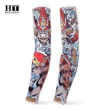 2020 Summer new tattoo sleeve fashion unisex UV protection arm sleeves Outdoor sports Cycling basketball Arm warmer 2 piece set