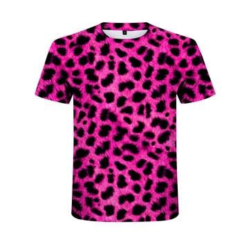 New Fashion High Quality Leopard Printed T-shirt Men Summer Short Sleeve Hip Hop Cool T Shirts Couple Hipster Harajuku Tee Tops