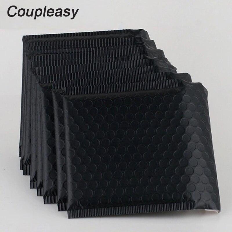 100Pcs Matte Black Foil Plastic Padded Bubble Envelopes Bags Self Seal Shipping Envelopes with Bubble Thicken Bubble Mailer