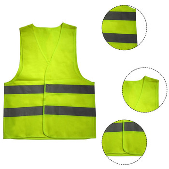 High Visibility Yellow Vest Reflective Safety Workwear for Night Running Cycling Man Night Warning Working Clothes Fluorescent. sports safety warning vest fluorescent riding clothes motorcycle reflective vests