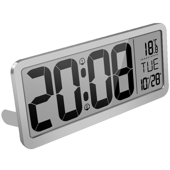 Extra Large Digital Wall Clock, Desk Clock, Auto Time Self Setting Alarm Clock, Auto DST Time Changing, Jumbo Number Clock Date