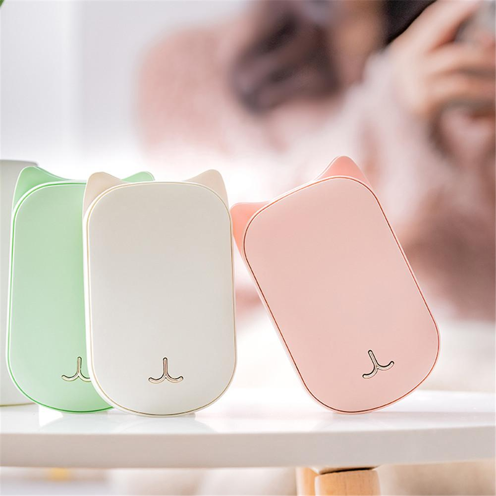 Creative 2 In 1 Power Bank Hand Warmer 3600mAh Portable Mobile Power Vibration Massage Winter Warm Hands Electric Hot Device 40p