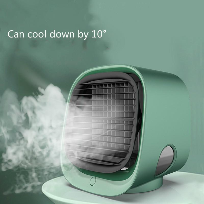 Home Air Cooler Portable Air Conditioner Quick & Easy To Cool Any Space 7 Colors LED USB Air Conditioner Fan Device Office Desk