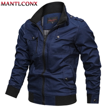 MANTLCONX Autumn Casual Mens Jacket Army Military Men Coats Winter Male Outerwear Overcoat Brand Man Jackets
