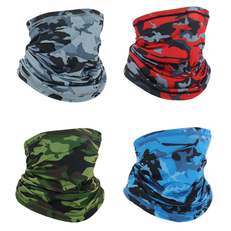 Outdoor Sport UV Scarf Face Cover Neck Gaiter Mask Dust Protection Magic Scarf Wind Bandana For Cycling Biking Camping Hiking