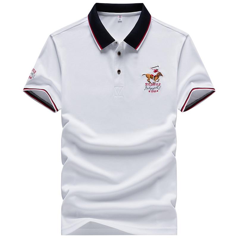 DARPHINKASA2020 Summer New Men Polo Shirt Embroidery Polo Shirt Men Casual Polo Shirt Solid Color Men Short Sleeve 2