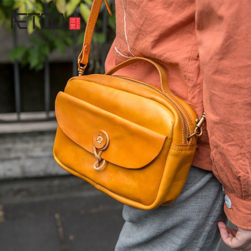 AETOO été femmes nouvelle mode cent avec gaz étranger unique sac à bandoulière, femelle oblique usure texture petit sac