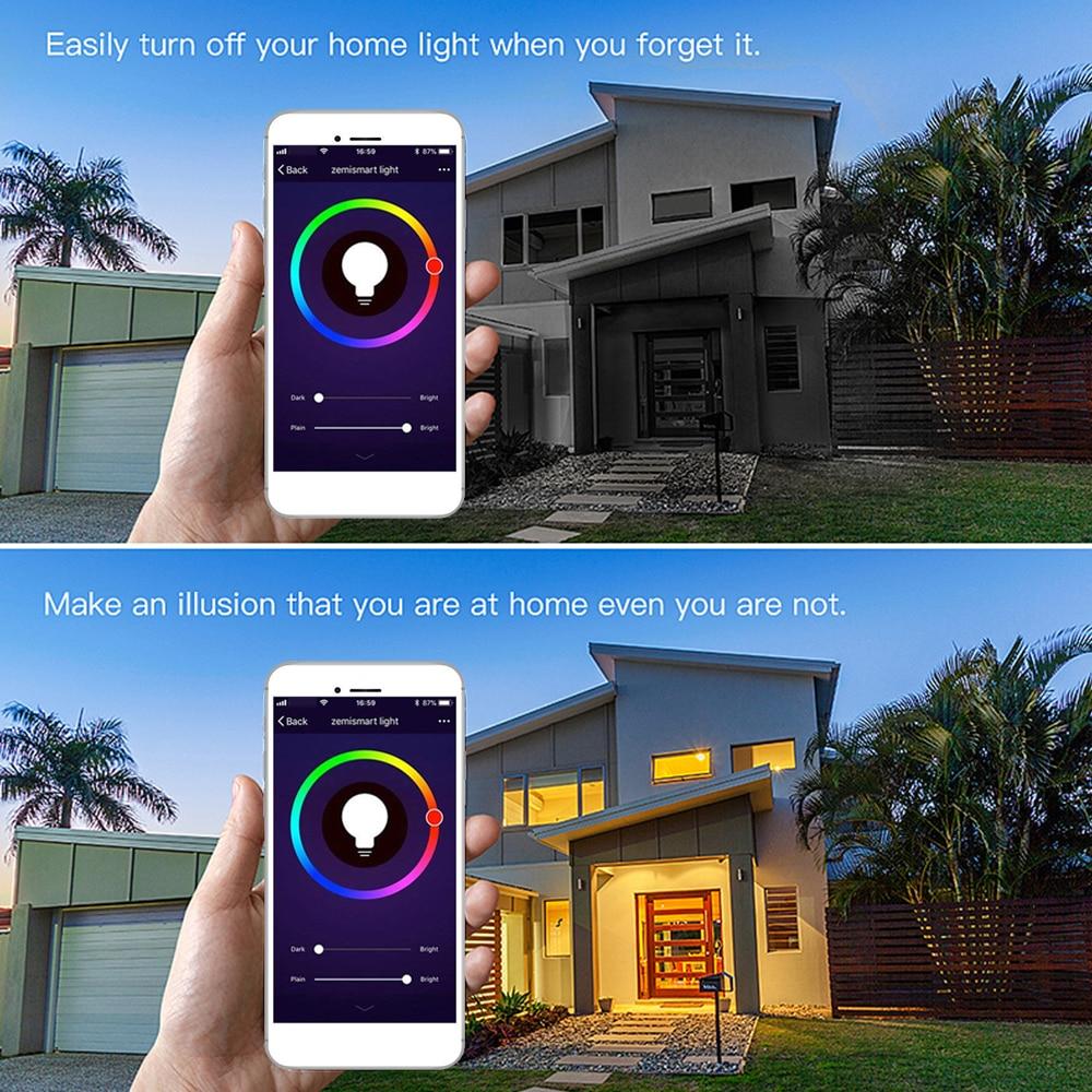 6 шт. 9 Вт движения PIR Сенсор светодиодный лампы + светло Управление движения Сенсор свет E27 светодиодный лампы Авто Smart светодиодный ПИР инфра... - 4