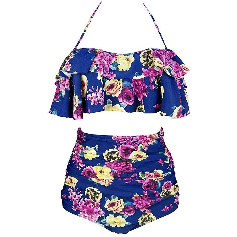 Hfa6eb757d8e04fd38d7fb8d84ee0c8aad 2019 New Bikinis Women Swimsuit High Waist Bathing Suit Plus Size Swimwear Push Up Bikini Set Vintage Beach Wear Biquini