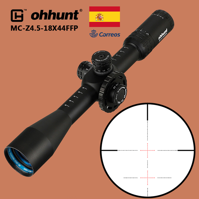 ohhunt MC Z 4.5 18X44 FFP Tactical Optics Sight First Focal Plane Riflescope Red Green Z1000 Glass Etched Reticle Rifle Scope