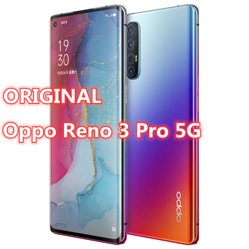 "In Stock Original Oppo Reno 3 Pro 5G Smart Phone Android 10.0 Octa Core 12G RAM 256G ROM 5 Cameras VOOC 6.5"" Screen Fingerprint|Cellphones| - AliExpress"