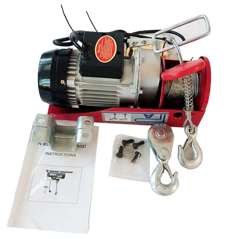 US Plug Electric Hoist / with Electric Hoist PA200 Household Crane Cable Hoist Electric Winch Motor HWC|Lifting Tools & Accessories| |  - title=