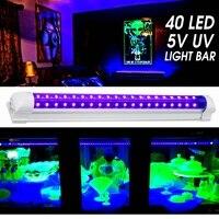 Smuxi 40 leds uv ultravioleta tira barra de luz uv blacklight dj festa clube efeito luminária palco decoração discoteca lâmpada palco Efeito de Iluminação de palco     -