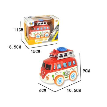 1:43 Scale Mini Alloy Music School Bus Car Model LED Light Vehicles Kids Baby Toys Educational Gift Y4QA image