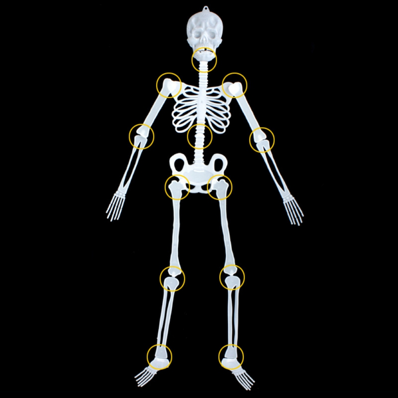 Halloween Ghost Festival April Fools Day Party Supplies Horror Luminous Body Skeleton House Decoration