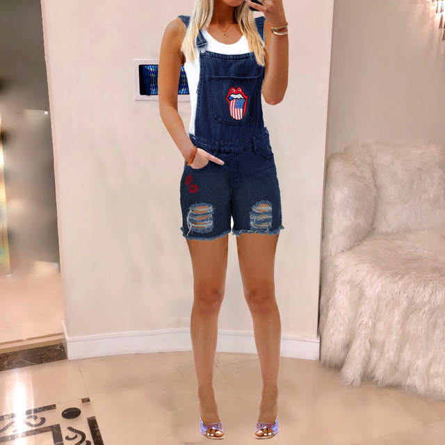 Women's Bib Leggings, Ripped Jeans for Women 2
