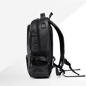 Image 4 - ヴィンテージ男性のバックパック大ナイロン旅行のラップトップバッグ十代の学校のバックパック男性パッチワーク通学mochila黒XA129C