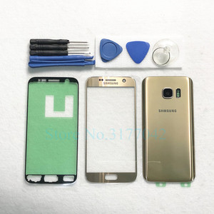 Image 4 - For Samsung Galaxy S7 Edge G935 G935F S7 G930 G930F Front Touch Panel Outer Lens + Rear Battery Door Back Glass Housing Cover