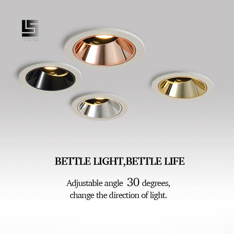LED downlight שקוע LED תקרת ספוט אור 9w 12w COB גבוהה-סוף בית שיפור חנות מלון הנדסה וילה מקורה תאורה