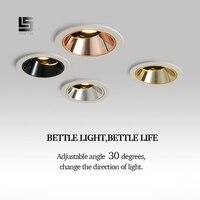 LEVOU downlight Recesso LEVOU Teto Spot Light 9w 12w COB high end casa melhoria loja de engenharia do hotel villa iluminação interna|Iluminação especial p/ engenharia| |  -