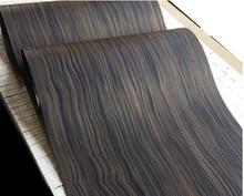 Width:62cm  L:2.5MetersThickness:0.25mm  Technology Wave Pattern Macassar Ebony Wood Veneer