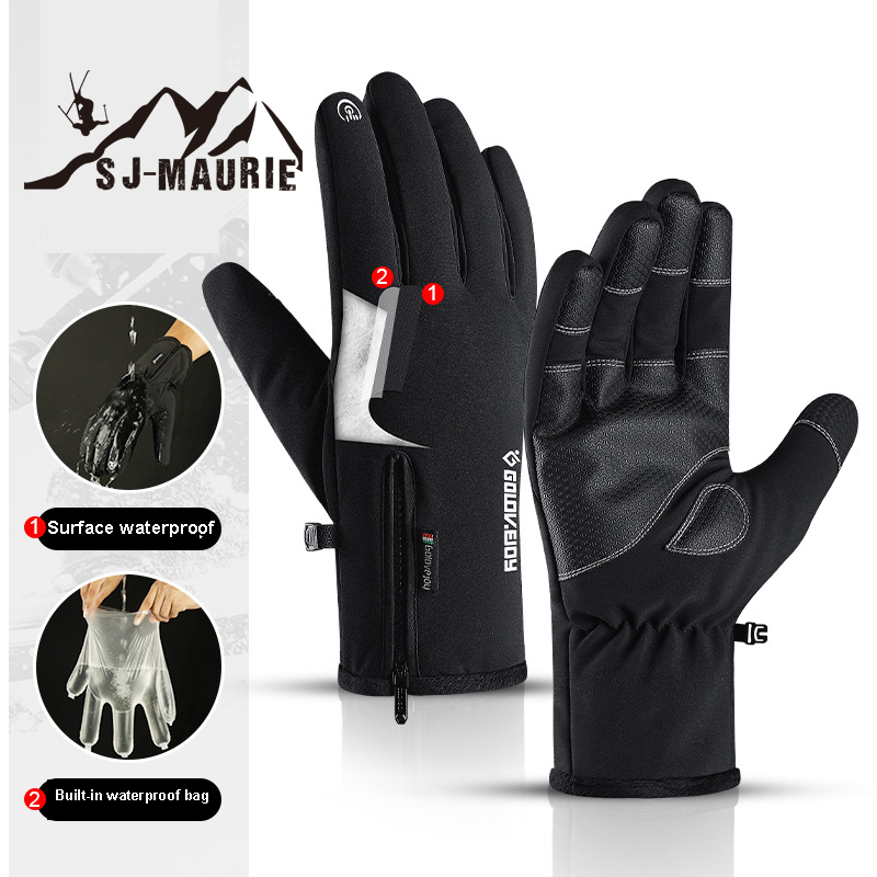 Touch Screen Gloves Outdoor Men Women Winter Mittens Windproof Plush Glove