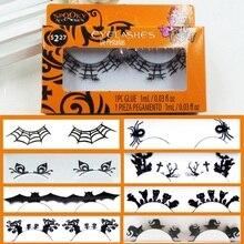 1 Pairs Handmade Paper-cut False Eyelashes Fashion Black Paper Eye Lashes Halloween Makeup Maquiagem