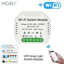 Мини Wi-Fi умный светильник переключатель Diy выключатель модуль Smart Life/приложение Tuya дистанционное управление, работает с Alexa Echo Google Home 1 2 Way
