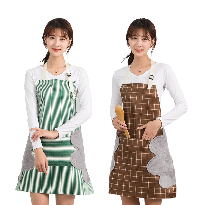 Kitchen Hand Wipe Household Apron. With Towel Apron Thickened, Waterproof And Oil-proof Can Wipe Hand Apron